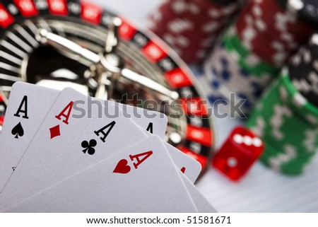 Play in the casino - stock photo