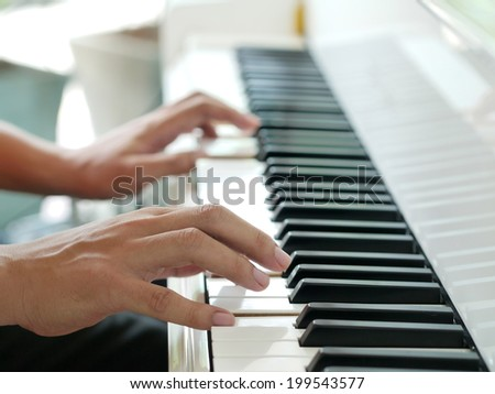 play piano - stock photo