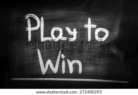 Play To Win Concept - stock photo
