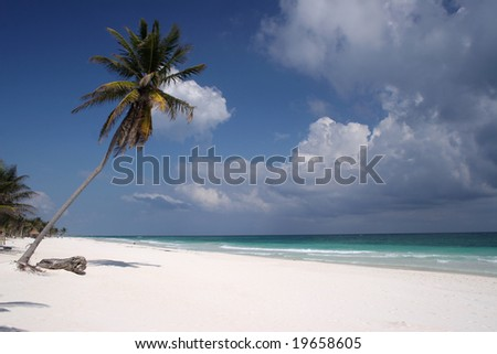 Playa de Tulum 01 - stock photo