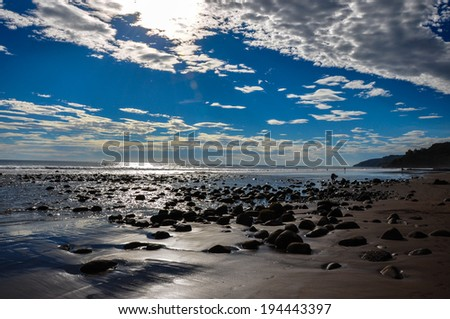 Playa El Zonte, El Salvador - stock photo