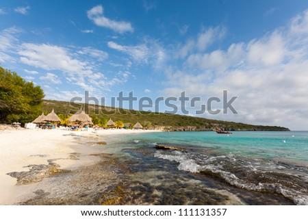 Playa Lagun beach Curacao - stock photo
