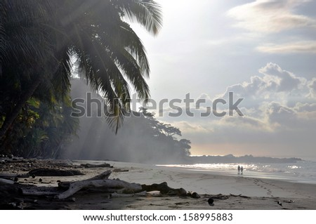 Playa Quizales, Pac�­fico, Costa Rica - stock photo