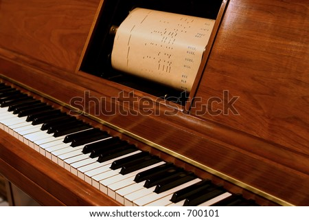 player piano - stock photo