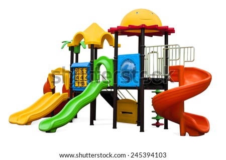 Playground for children in the yard - stock photo