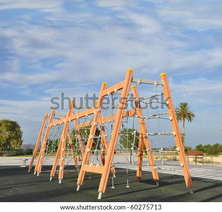 Playground Jungle Gym Exercise Fitness Agility Equipment - stock photo