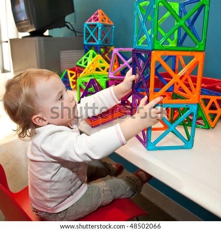 Playground or play area is an area designed for children to play, indoors or outdoors - stock photo