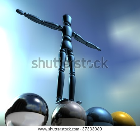 playing balls - stock photo