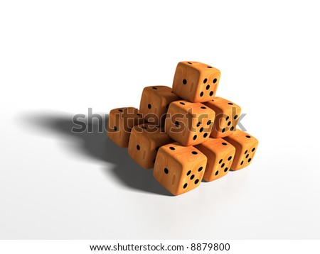 Playing Bones (Pyramid) - stock photo