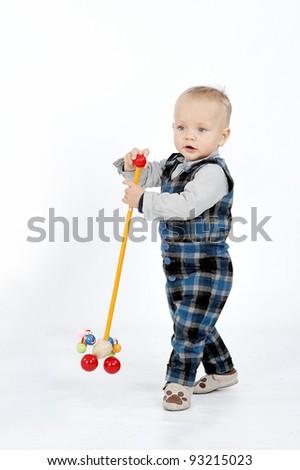 Playing boy - stock photo