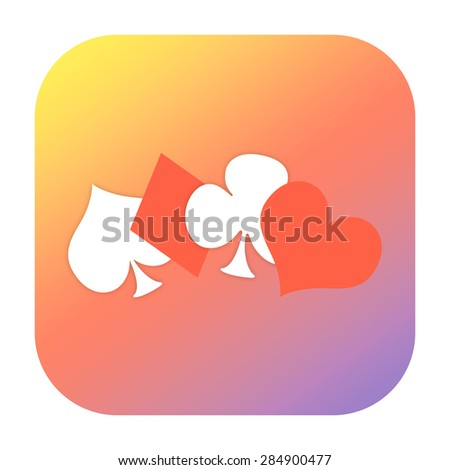 Playing card symbols gambling icon - stock photo