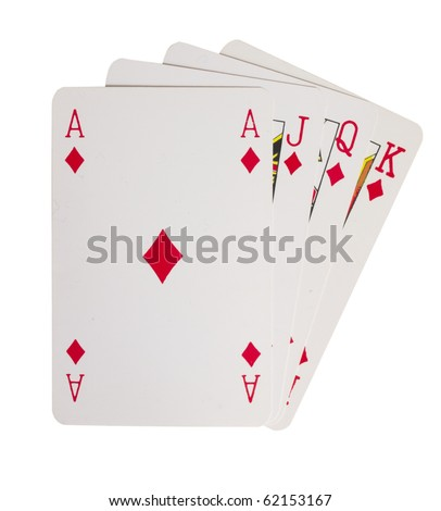 playing cards, - stock photo