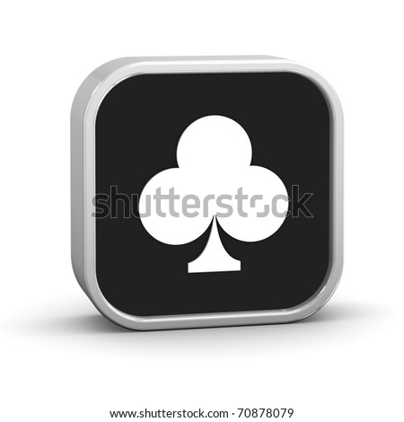 Playing cards clubs on a white background. Part of a series. - stock photo