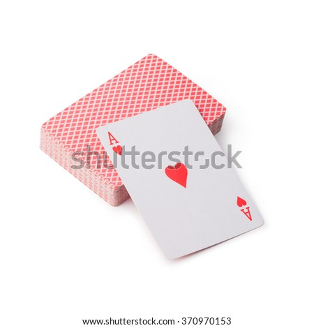 playing cards on white background - stock photo