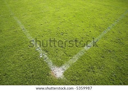 Playing field corner line - stock photo