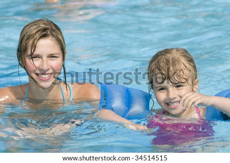 Playing in water - stock photo