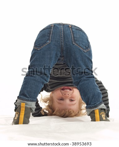 Playing kid - stock photo