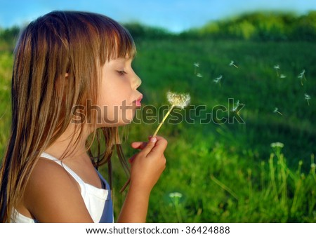 Playing on a meadow - stock photo