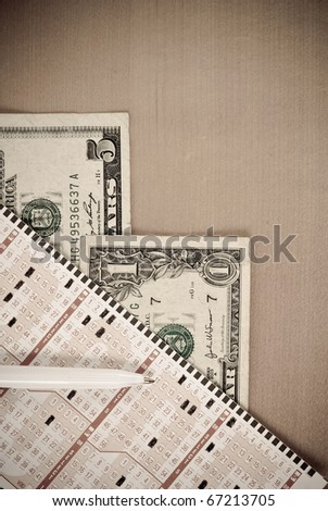 Playing The Lottery - stock photo