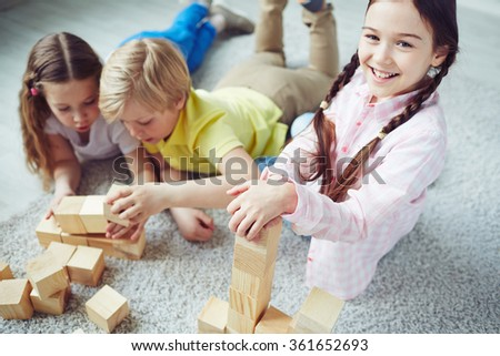 Playing together - stock photo