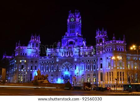 Plaza de Cibeles - Madrid (Spain) - stock photo