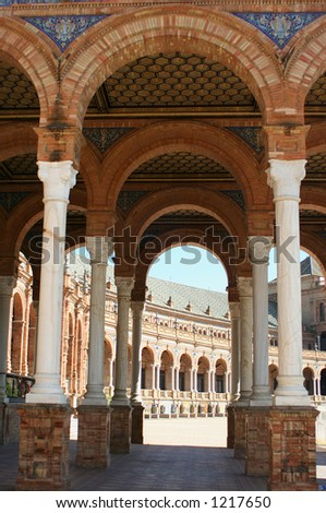 Plaza de Espana in Seville, Spain - stock photo