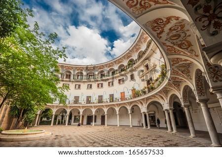 Plaza del Cabildo, Seville, Spain - stock photo