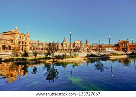 Plaza Espana inSevilla, Spain - stock photo