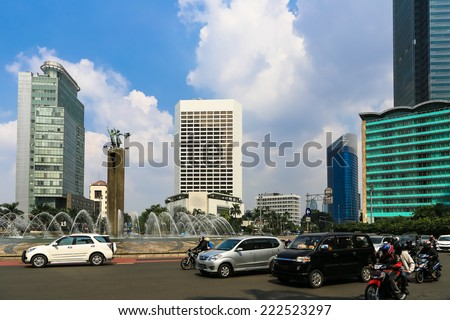 Plaza Indonesia is the heart of the modern part of Jakarta city. - stock photo