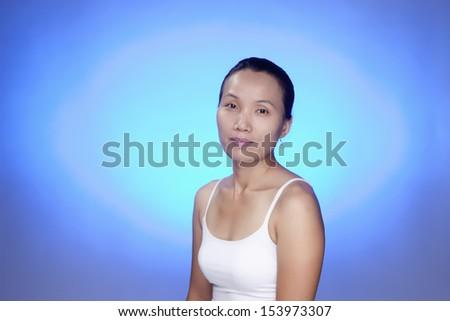 Pleasant expression. - stock photo