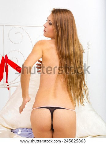 Pleasure Nude Morning Seduction  - stock photo
