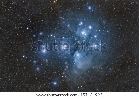 Pleiades or The Seven Sisters - stock photo