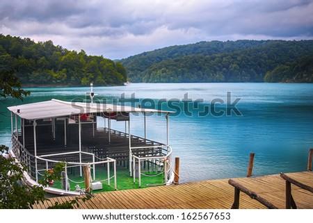Plitvice lakes of Croatia - stock photo
