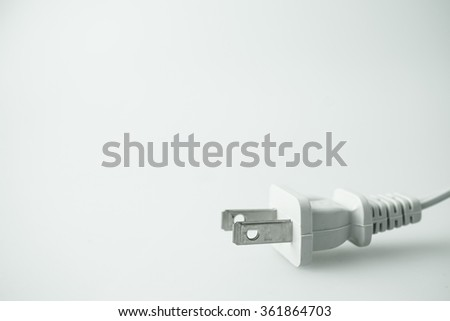plug for energy concept - stock photo