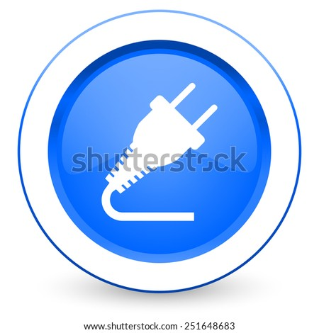 plug icon electricity sign  - stock photo