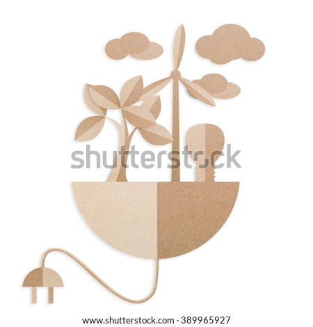 Plug style Energy from the nature of the paper. - stock photo