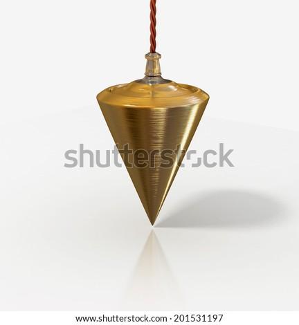 plumb line isolated illustration - stock photo