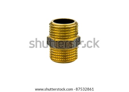 Plumber connector isolated on white - stock photo