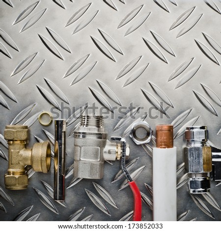Plumbing inlet pipe valve   - stock photo