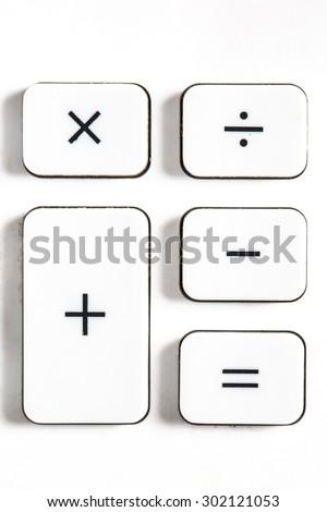 Plus minus multiply divide - stock photo
