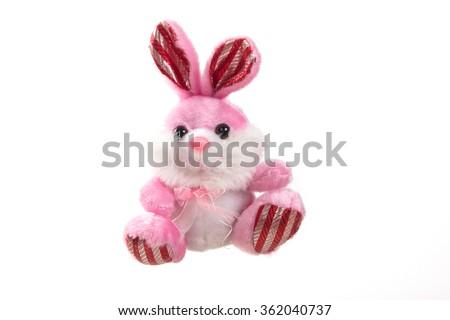 Plush toy hare rabbit - stock photo