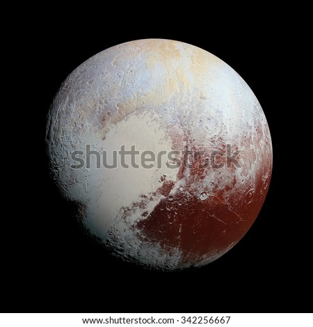 Pluto Planet Solar System space isolated illustration  - stock photo