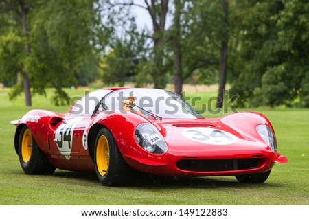 PLYMOUTH - JULY 28: A vintage Ferrari Dino at the 2013 Concours D'Elegance  July 28, 2013 Plymouth, Michigan. - stock photo