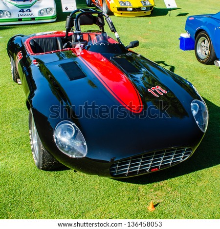 PLYMOUTH, MI/USA - JULY 27: A 1971 Jaguar E-Type Series III on display at the Concours d'Elegance of America, on July 27, 2012 in Plymouth, Michigan. - stock photo