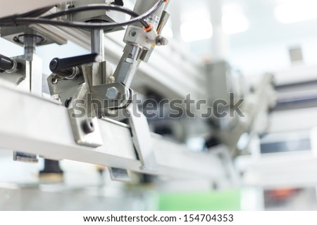 pneumatic systems, automatic, machine part - stock photo