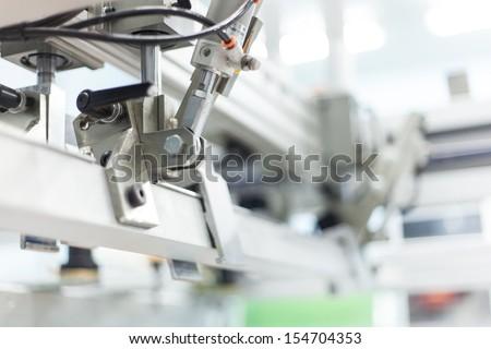 pneumatic systems, automatic, machine part - stock photo
