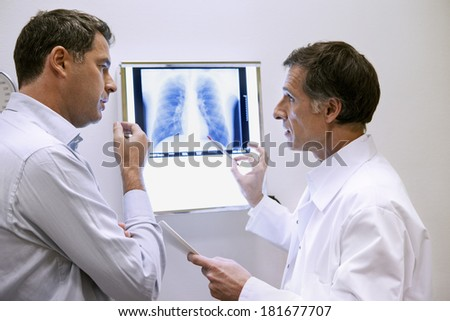Pneumology Consultation Man - stock photo
