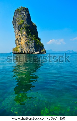 Po da island, Kra bi Thailand - stock photo