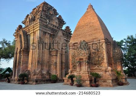 Po Ngar Cham Towers in Nha Trang, Vietnam - stock photo