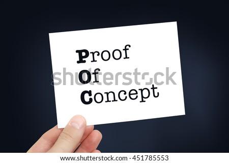 POC concept - stock photo